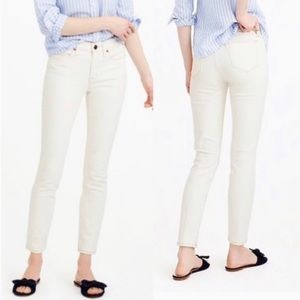 J. Crew ankle toothpick skinny cream jeans pants